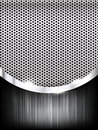 Polished steel texture on hold metal with curve abstract background vector illustration 001 Royalty Free Stock Photo