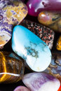 Polished stones in a pile Royalty Free Stock Photo