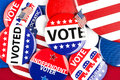 Political badge collection Royalty Free Stock Photo