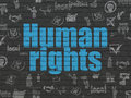 Political concept: Human Rights on wall background