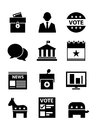 Political icons set a of politics based Royalty Free Stock Photos