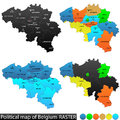 Political map of belgium and location versatile file every piece is selectable and editable in layers panel turn on and off Stock Images