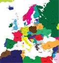 Politická mapa z evropa