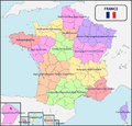 Political Map of France with Names