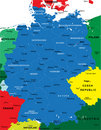 Political map of Germany Royalty Free Stock Photos