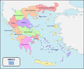 Political Map of Greece with Names