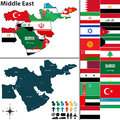 Political map of Middle East Royalty Free Stock Photo