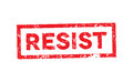 Political Slogan Resist Stamped on White Illustration