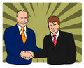 Politicians shaking hands Royalty Free Stock Image