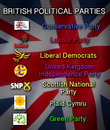 Politics british political parties the united kingdom main conservatives labour liberal democrats ukip snp plaid cymru and the Stock Photography