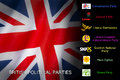 Politics british political parties the united kingdom main conservatives labour liberal democrats ukip snp plaid cymru and the Stock Photos