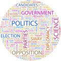 Politics concept illustration graphic tag collection wordcloud collage Stock Image