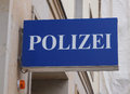 Polizai police sign a polizei meaning in german Stock Images