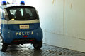 Polizia an italian patrol car with the inscription Stock Photography