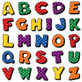 Polka Dot Alphabet Royalty Free Stock Photo