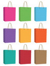 Polka dot bags Royalty Free Stock Photos