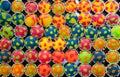 Polka dot colorful muffins Royalty Free Stock Photo