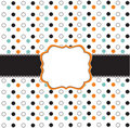 Polka dot design with black elements Royalty Free Stock Image