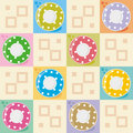 Polka-dot dishes seamless pattern Royalty Free Stock Images