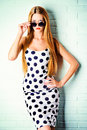 Polka-dot dress Royalty Free Stock Photo