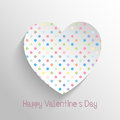 Polka dot heart design for valentines day Stock Image