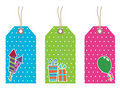 Polka dot party tags Royalty Free Stock Photo