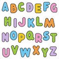 Polka-dot pattern alphabet set Stock Image