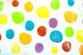stock image of  Polka Dot Pattern - Colorful dots on White Background