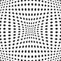 Polka dot pattern with fisheye effect. Vector illustration.