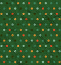 Polka dot pattern on green background retro Stock Image