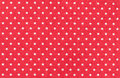 Polka dot pattern red fabric with white micro shot Royalty Free Stock Image