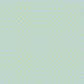 The polka dot pattern. Seamless vector illustration with round circles, dots. Yellow and blue.