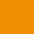 The polka dot pattern. Seamless vector illustration with round circles, dots. Yellow and orange.