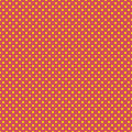 The polka dot pattern. Seamless vector illustration with round circles, dots. Yellow and pink.