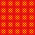 The polka dot pattern. Seamless vector illustration with round circles, dots. Yellow and red.