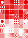 Polka dot patterns Stock Images