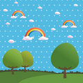 Polka dot rainbows Royalty Free Stock Photo