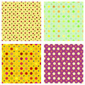 Polka dot repeat patterns four tilable seamless to create backgrounds Royalty Free Stock Image