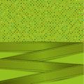 Polka dot and ribbon card green background colorful dots green Stock Photography