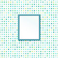 Polka dot seamless pattern and classic frame Stock Images