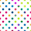 Polka Dot Seamless pattern. Colorful different circles ornament.