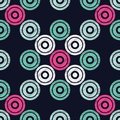 Polka dot seamless pattern. Geometric background. Dots, circles and buttons.