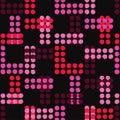 Polka dot seamless pattern. Hand hatching. Brushwork. Halftone. Geometric background. Scribble texture. Royalty Free Stock Photo