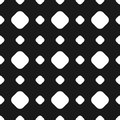 Polka dot seamless pattern, vector subtle texture, black and whi