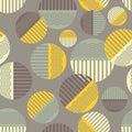 Polka dot seamless pattern. Wave texture.