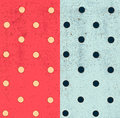 Polka dot seamless patterns grunge background with dots eps vector Stock Photos
