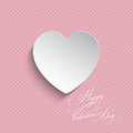 Polka dot valentines heart background shape on a for valentine s day Royalty Free Stock Photos