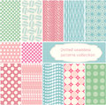 Polka dot - vector dotted seamless patterns collection. Royalty Free Stock Photo
