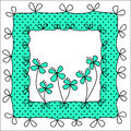 Polka dots and bows frame Stock Image