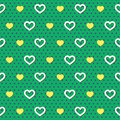 Polka dots hearts pattern Stock Fotografie